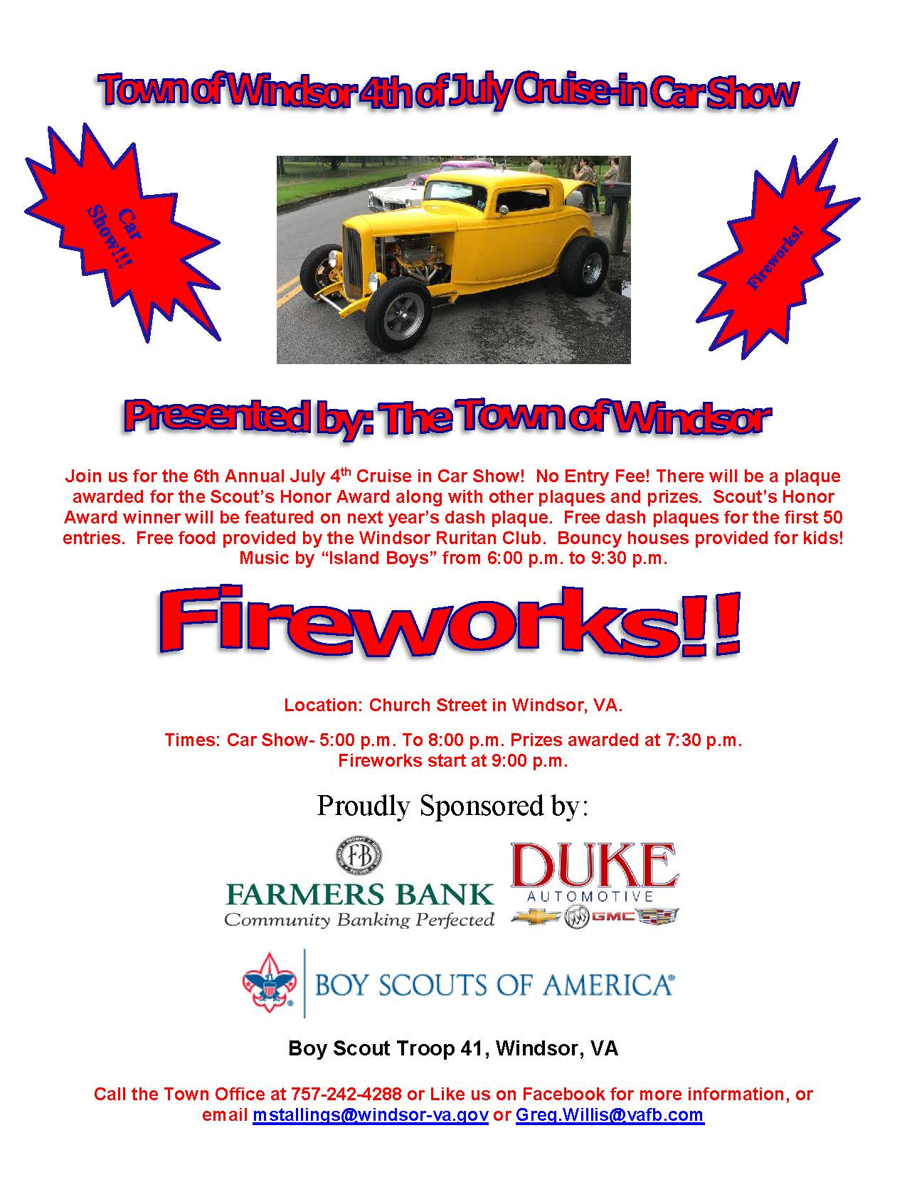 July 4th car show news news official website for the town of you can download the registration form here thecheapjerseys Image collections